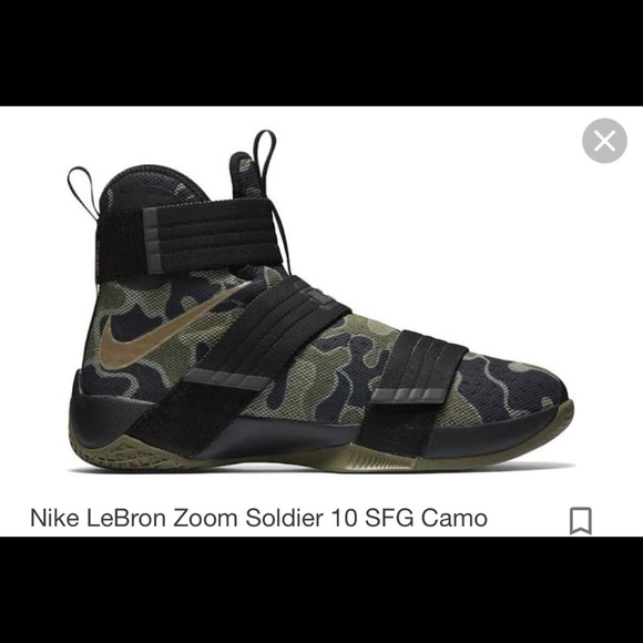 buy online 0d4a3 cc853 Nike LeBron Zoom Soldier 10 Camo